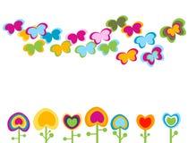 Retro bloemen Royalty-vrije Stock Afbeelding