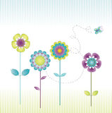 Retro bloemen Stock Foto