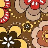 Retro bloemen Stock Afbeeldingen