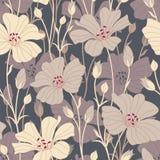 Retro bloemen royalty-vrije illustratie