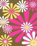 Retro bloemen grafisch ontwerp Stock Afbeeldingen