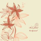 Retro bloemenachtergrond Royalty-vrije Stock Foto