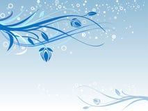 Retro bloemenachtergrond Stock Foto's