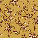 Retro bloemenachtergrond Royalty-vrije Illustratie