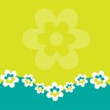 Retro BloemenAchtergrond Stock Afbeelding