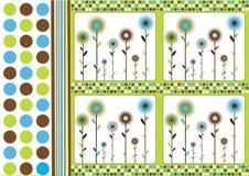 Retro bloemenachtergrond Stock Afbeeldingen