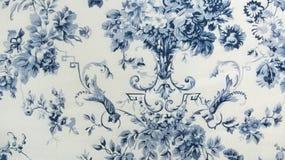 Retro Bloemenachtergrond van de Patroonstof Royalty-vrije Stock Foto
