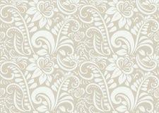 Retro bloemenbehang. Naadloos Royalty-vrije Stock Afbeelding