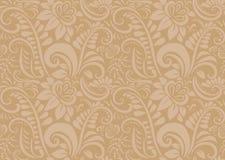 Retro bloemenbehang. Naadloos Royalty-vrije Stock Afbeeldingen