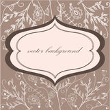 Retro bloemenframe Royalty-vrije Stock Foto