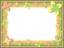 Retro BloemenFrame Royalty-vrije Stock Foto's