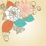 Retro bloemenhoek Stock Afbeeldingen