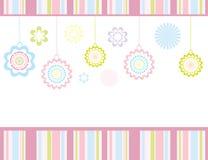 Retro bloemenkaart Stock Illustratie