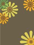 Retro bloemenontwerp Stock Afbeelding
