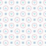 Retro Bloemenpastelkleur Daisy Pattern, Naadloze Vector royalty-vrije illustratie