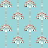 Retro bloemenpatroon Royalty-vrije Stock Afbeelding