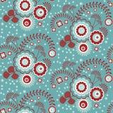Retro bloemenpatroon Stock Foto