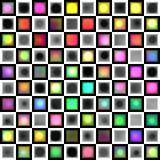 Retro blok en rondes royalty-vrije illustratie