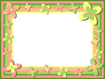 retro blom- ram royaltyfri illustrationer
