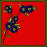Retro blom- reklamblad Arkivbild