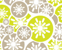 Retro blom- seamless bakgrund Royaltyfri Bild