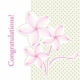 Retro blommahälsningkort Arkivbild
