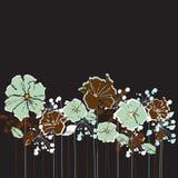 Retro blommor Arkivbild