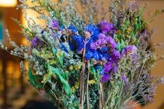 Retro blommor för tappning arkivbild