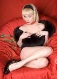 retro blond dziewczyna Fotografia Stock