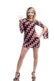 Retro Blonde Teken van de Vrede royalty-vrije stock foto's