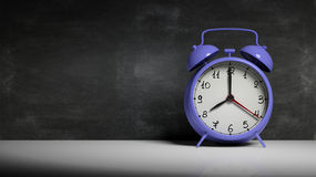 Retro blue alarm clock Royalty Free Stock Images