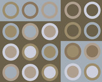 Retro blue and brown circles background. Retro blue and brown circles collage vector illustration