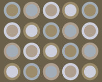 Retro blue and brown circles background Royalty Free Stock Photo