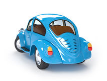 Retro blue car back Stock Image