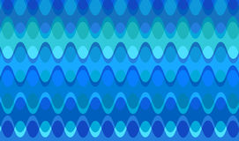 Retro Blue Chain Waves Stock Images