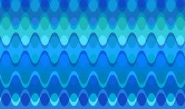 Retro Blue Chain Waves stock illustration