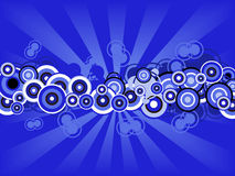 Retro Blue circles Royalty Free Stock Photos