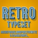 Retro Vintage Font Stock Photography