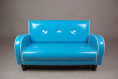 Retro blue couch. For child blue retro couch Stock Photography