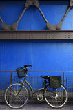 Retro blue cycle Royalty Free Stock Images