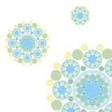 retro blue dots snowflakes Royalty Free Stock Photography