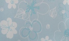 Retro Blue Floral Pattern Rugged Plastic Texture Royalty Free Stock Photography