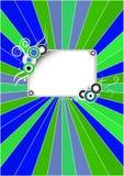 Retro blue-green cover. Retro cover design for notebook envelope Royalty Free Stock Photo