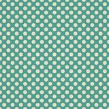 Retro blue green and light beige or off white polka dot wallpaper background pattern design Stock Photos