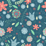 Retro blue pattern Royalty Free Stock Image