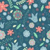 Retro blue pattern Royalty Free Stock Image