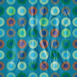 Retro blue pattern with torus Royalty Free Stock Image