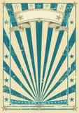 Retro blue poster Stock Photography