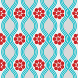 Retro blue and red pattern vector illustration