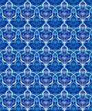Retro blue seamless flower texture background Stock Photos